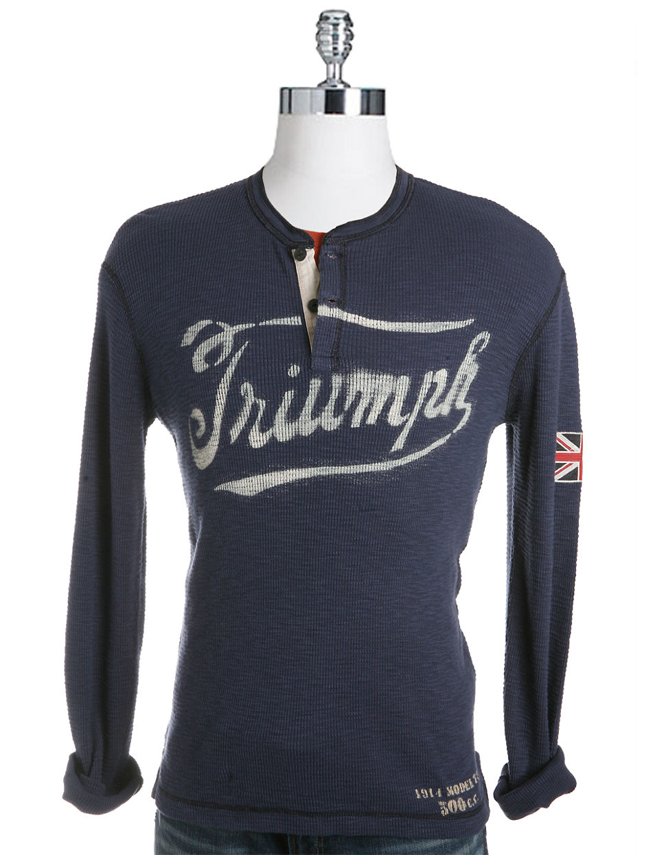 Lucky Brand Triumph Stencil Thermal In Blue For Men Lyst