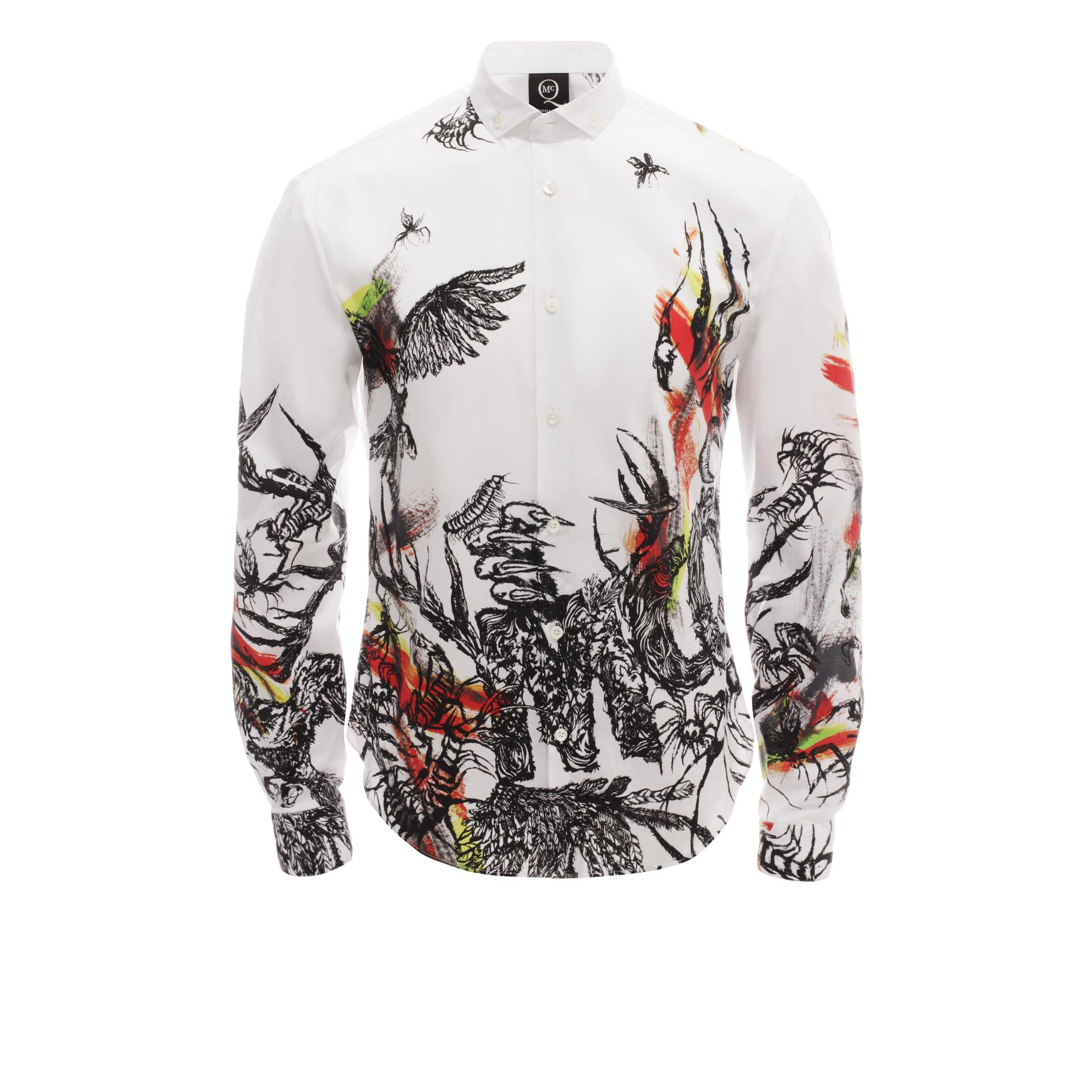 Mcq Toxic Animal Print Shirt in White for Men | Lyst