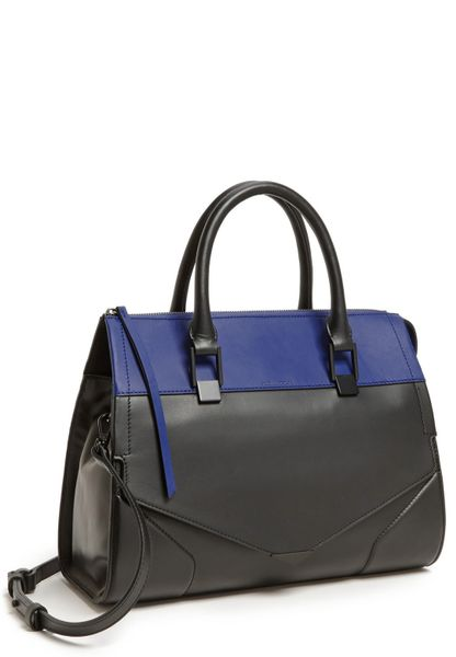 Pour La Victoire Prouve Leather Satchel in Blue (Cobalt)