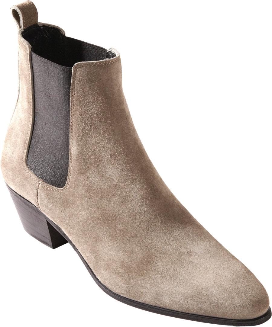 Saint Laurent Suede Rock Chelsea Boot In Brown For Men