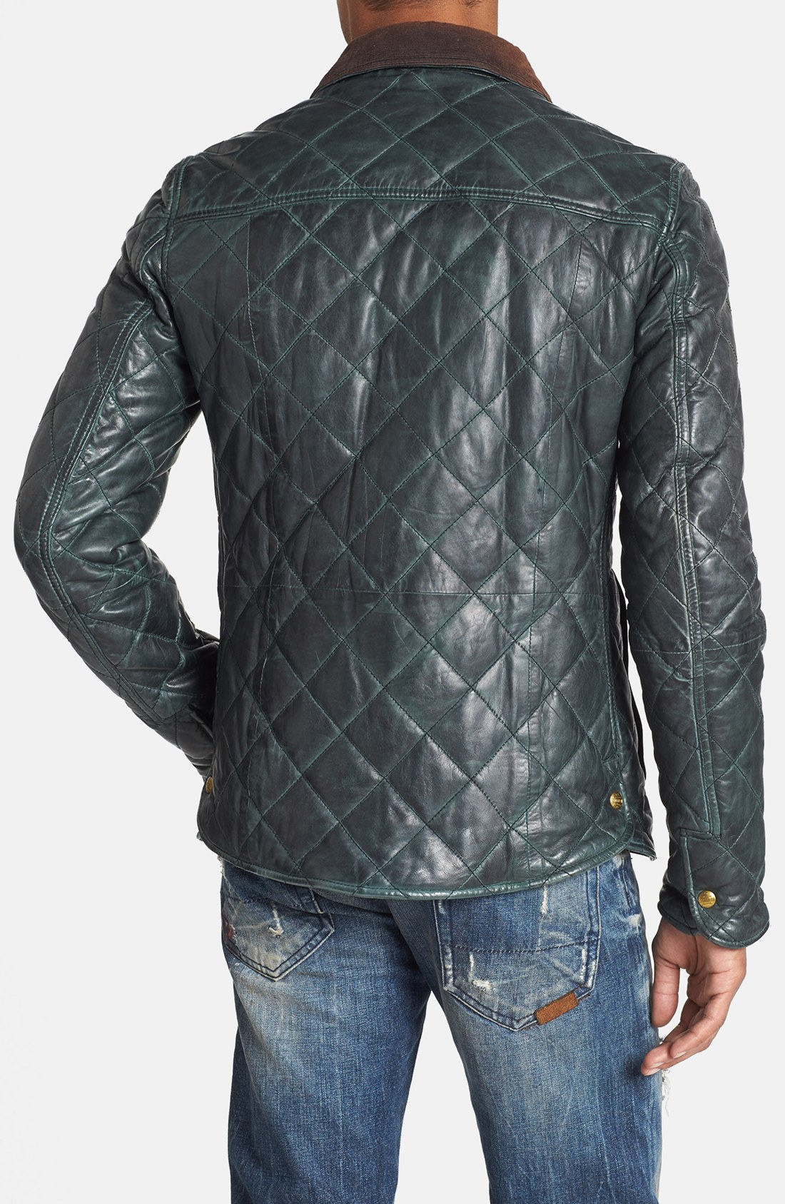 Scotch & soda Quilted Leather Jacket in Green for Men | Lyst : scotch and soda quilted leather jacket - Adamdwight.com
