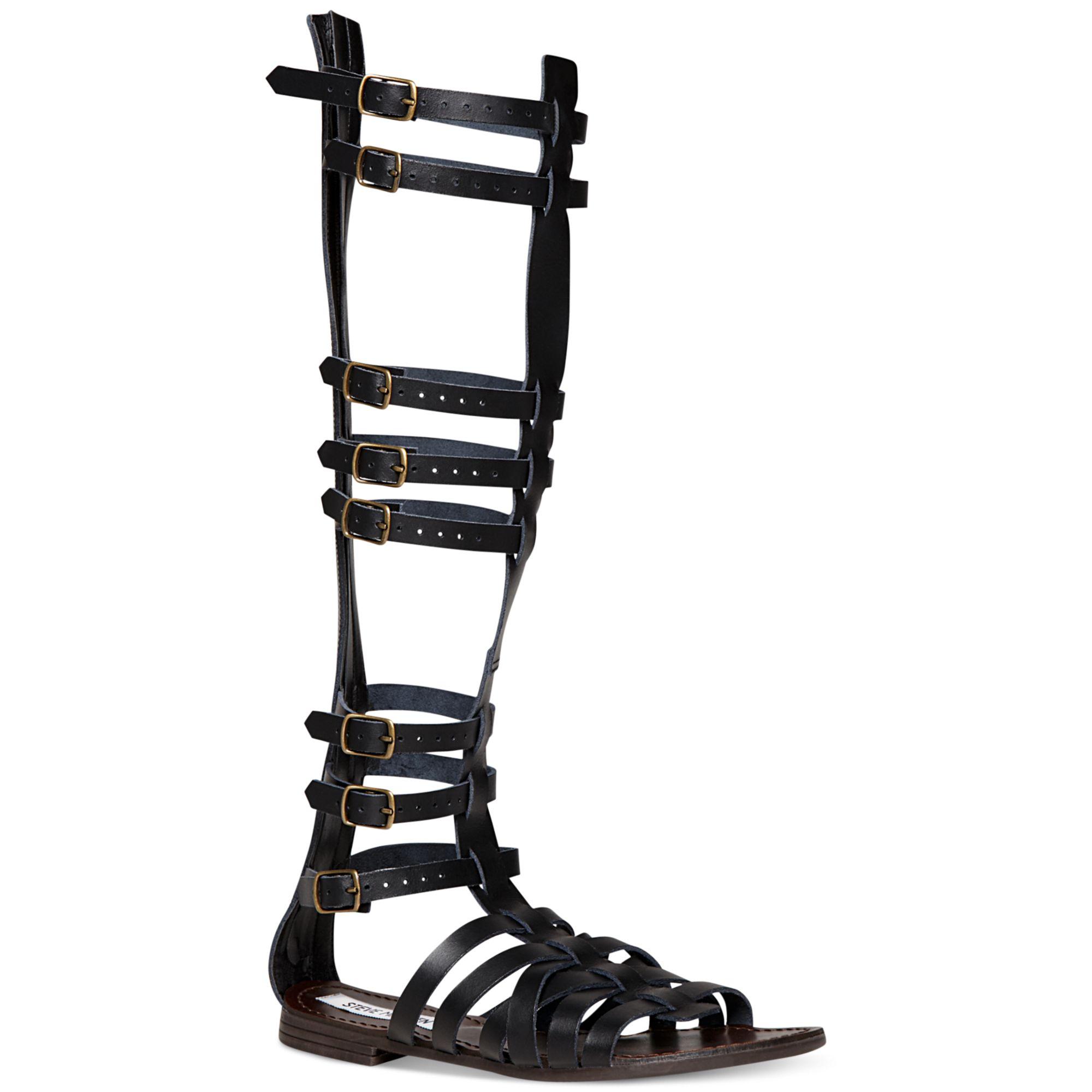 be9c359028b Steve Madden Black Sparta Tall Gladiator Sandals
