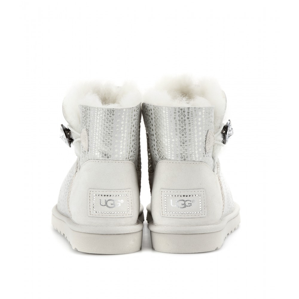 ugg mini bailey button bling flat boots