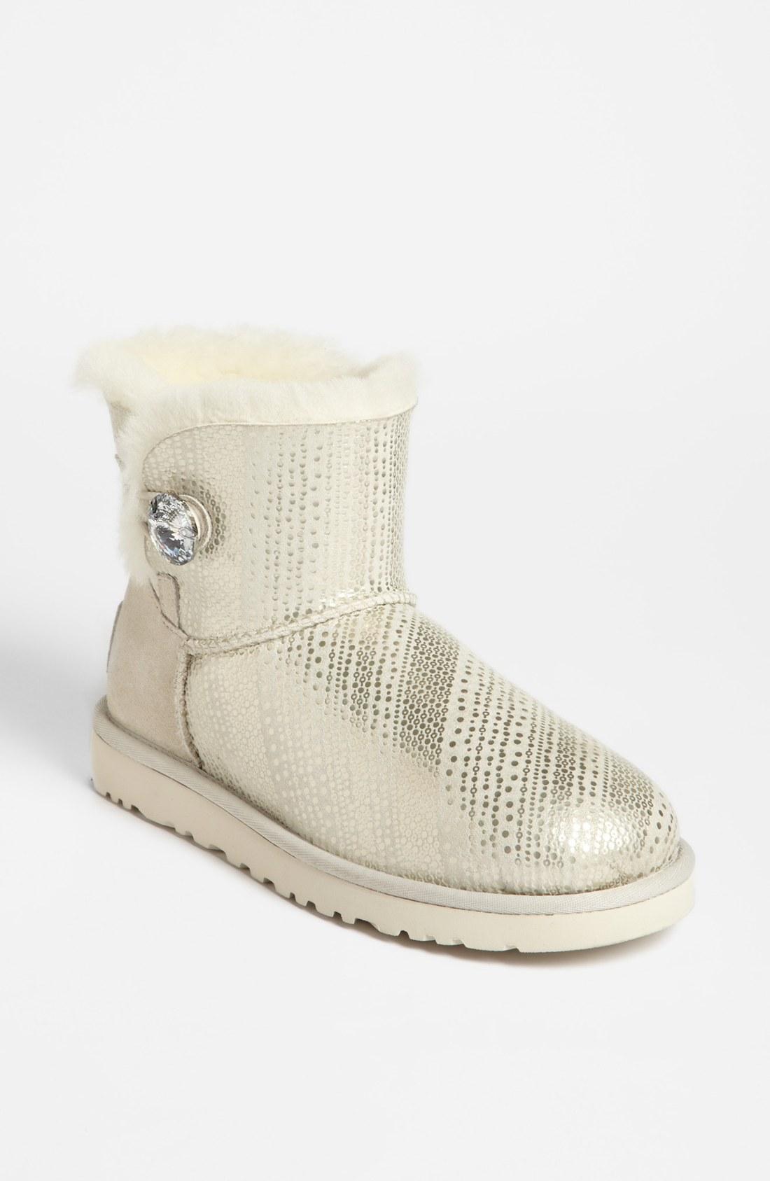 ugg mini bailey swarovski crystal button bling boot in. Black Bedroom Furniture Sets. Home Design Ideas