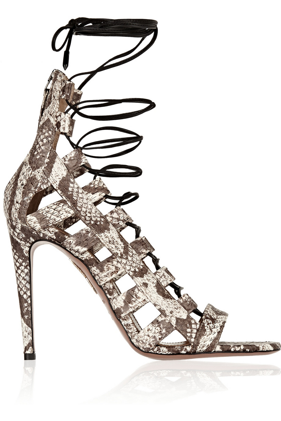 free shipping browse Aquazzura Amazon Python Cage Sandals clearance choice ompFsors