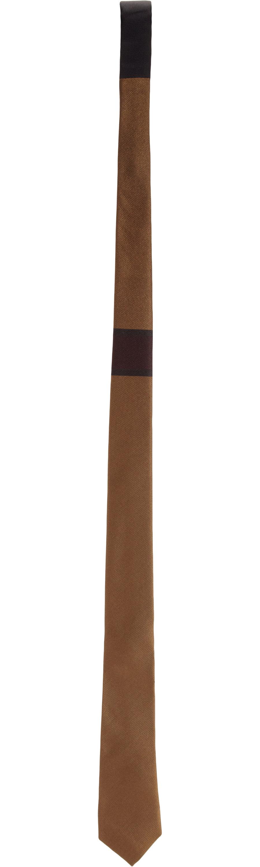 4eb8937c26e3 ... purchase lyst burberry prorsum single stripe skinny tie in natural for  men 90875 1c562