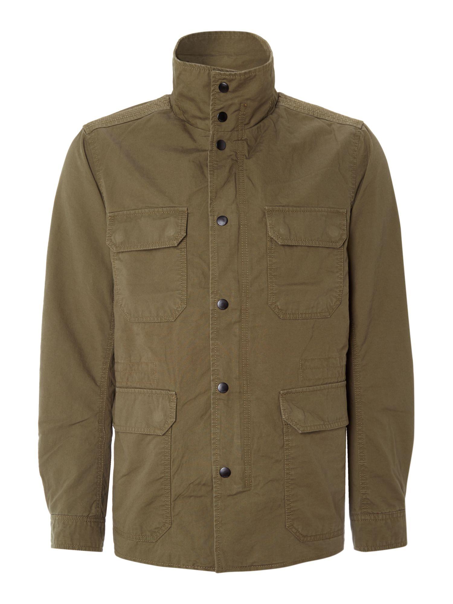 Diesel Four Pocket Field Jacket In Green For Men Lyst