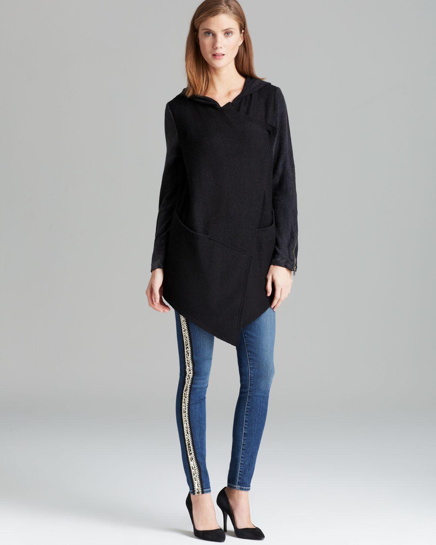 Free People Cardigan Woolie Knit Drapey in Black