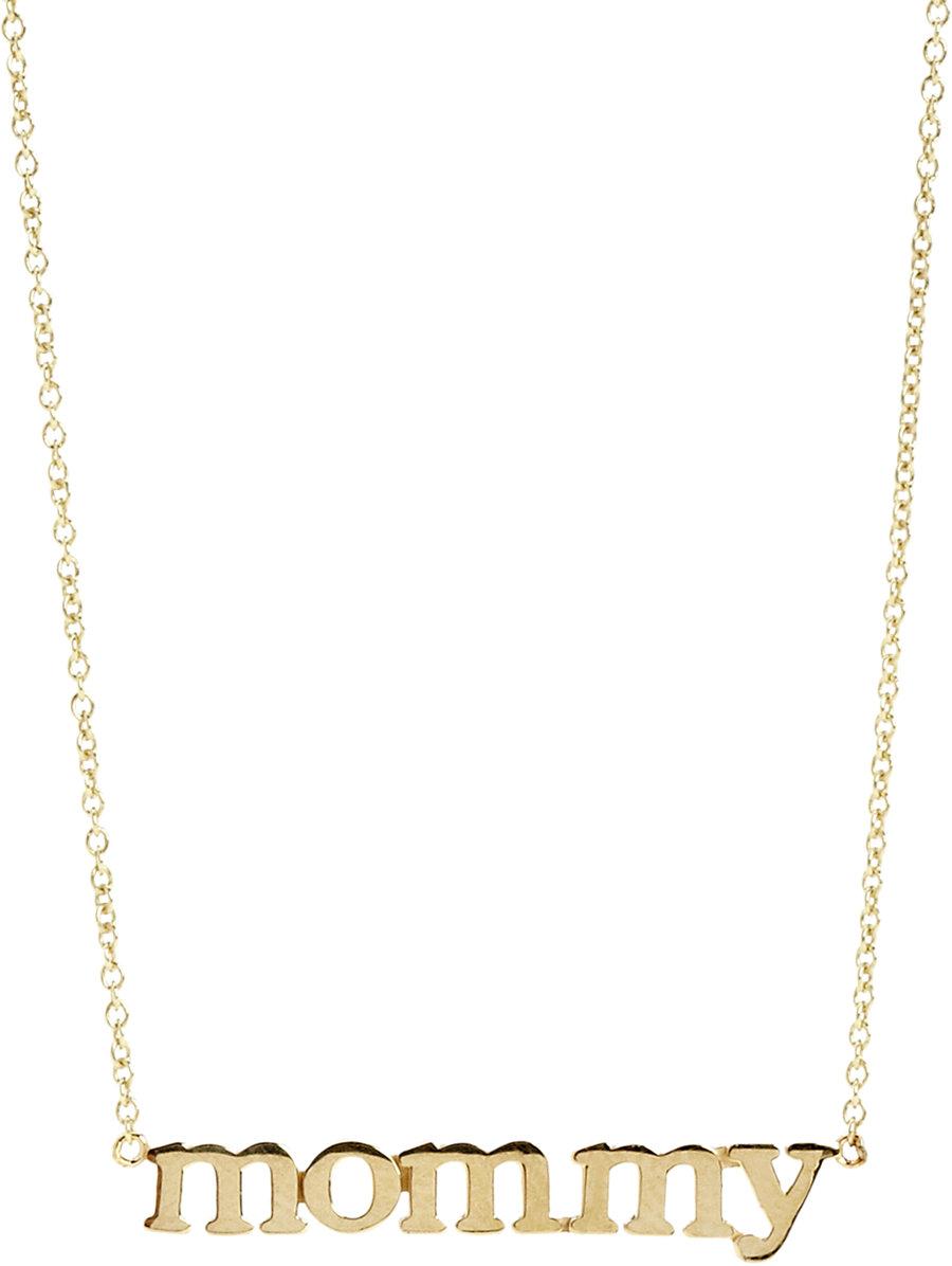 Jennifer meyer gold mommy pendant necklace in metallic lyst gallery aloadofball Choice Image