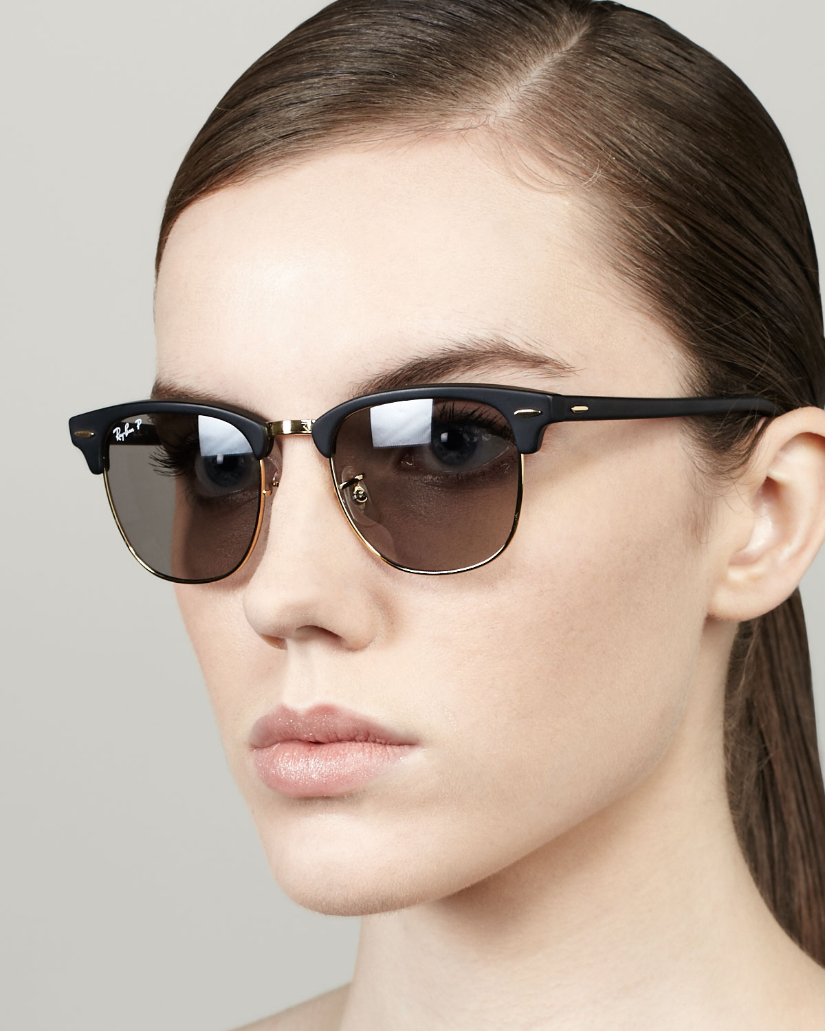 ray ban clubmaster sunglasses black and silver  gallery. previously sold at: neiman marcus, bergdorf goodman · women's clubmaster sunglasses women's ray ban clubmaster