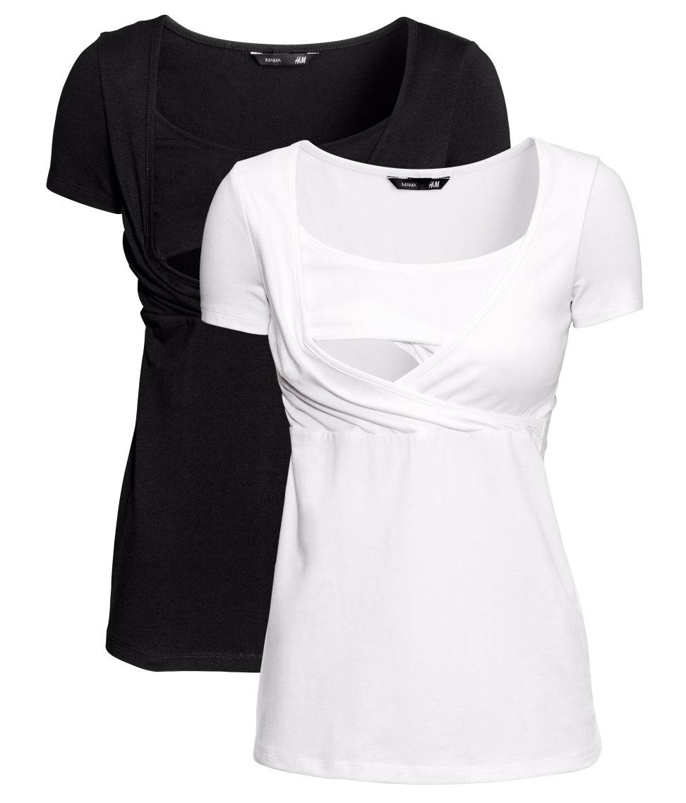 Lyst H Amp M Nursing Tops In Black