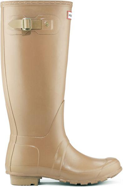 Hunter Original Tall Rain Boots In Brown For Men Caf 201