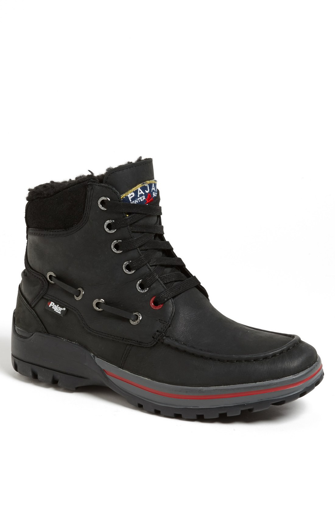 pajar basel snow boot in black for lyst