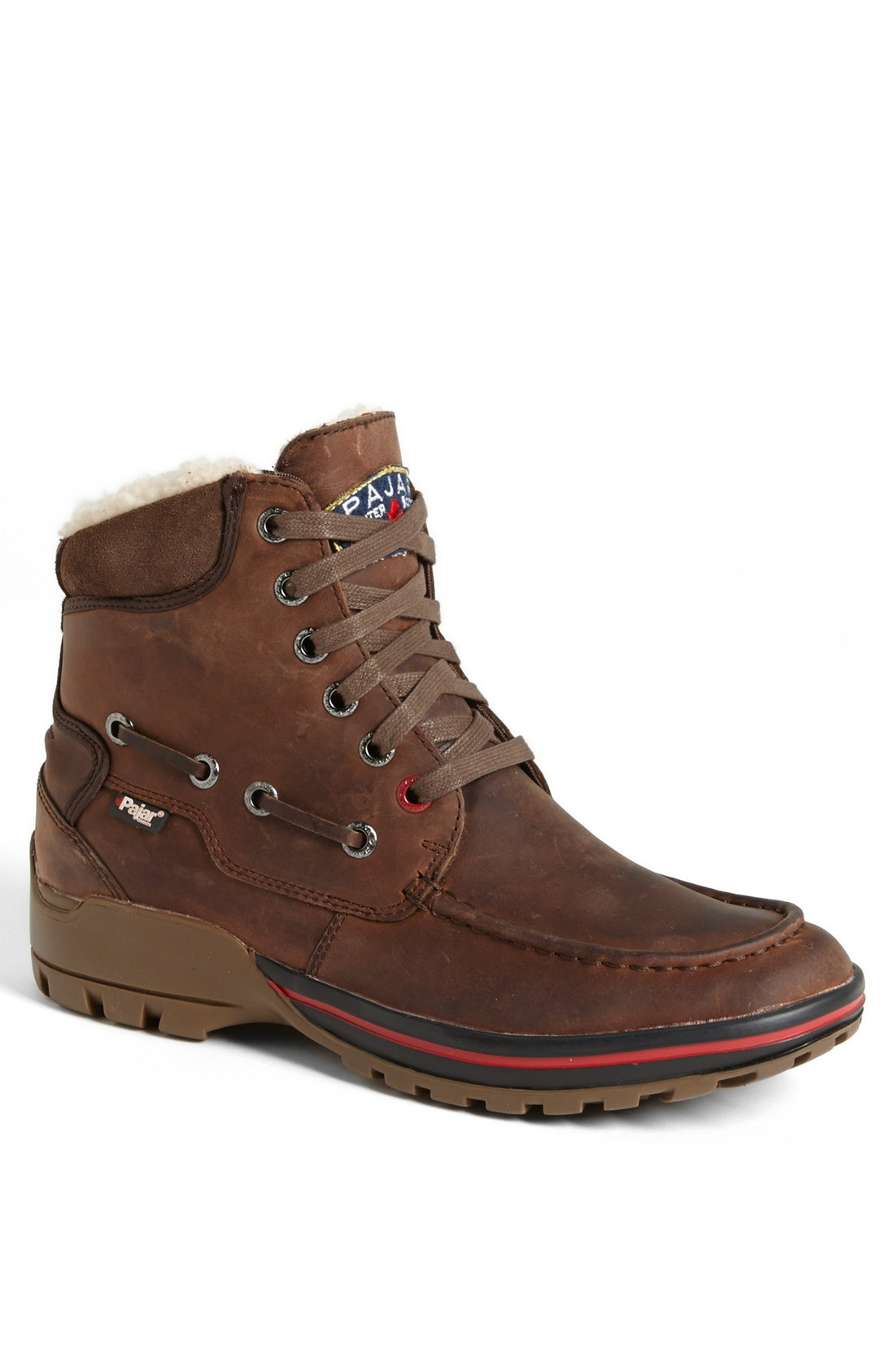 pajar basel snow boot in brown for lyst