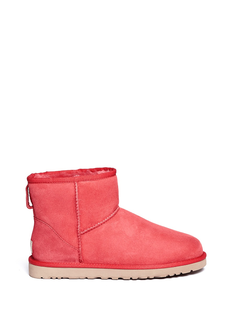 Ugg Classic Mini Boots In Red Lyst