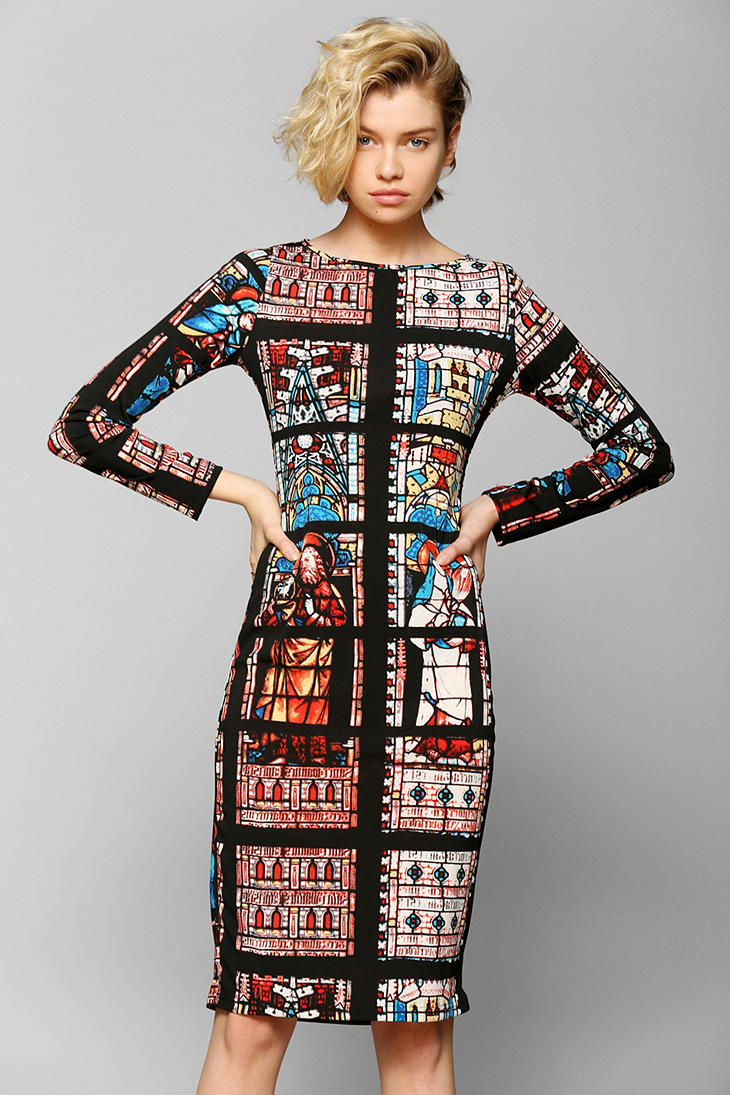 Urban Outfitters Glamorous Stained Glass Midi Dress Lyst