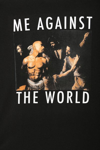 Urban Outfitters Tupac Against The World Tee In Black For