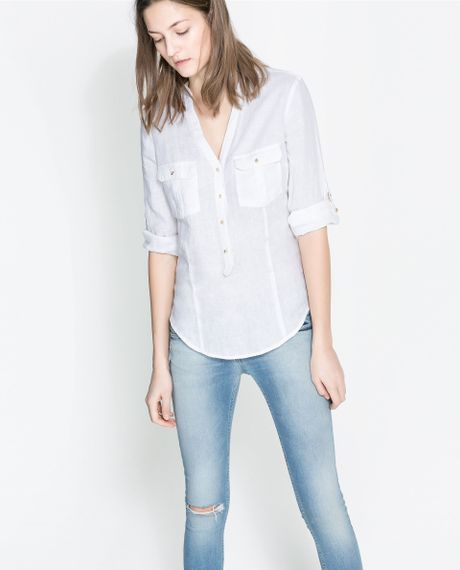 Zara Linen Blouse 85