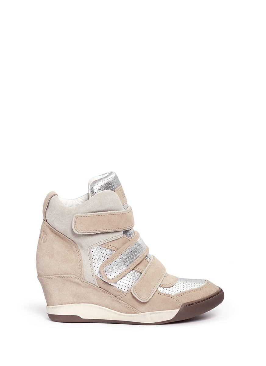 ash high top wedge sneakers in natural lyst. Black Bedroom Furniture Sets. Home Design Ideas