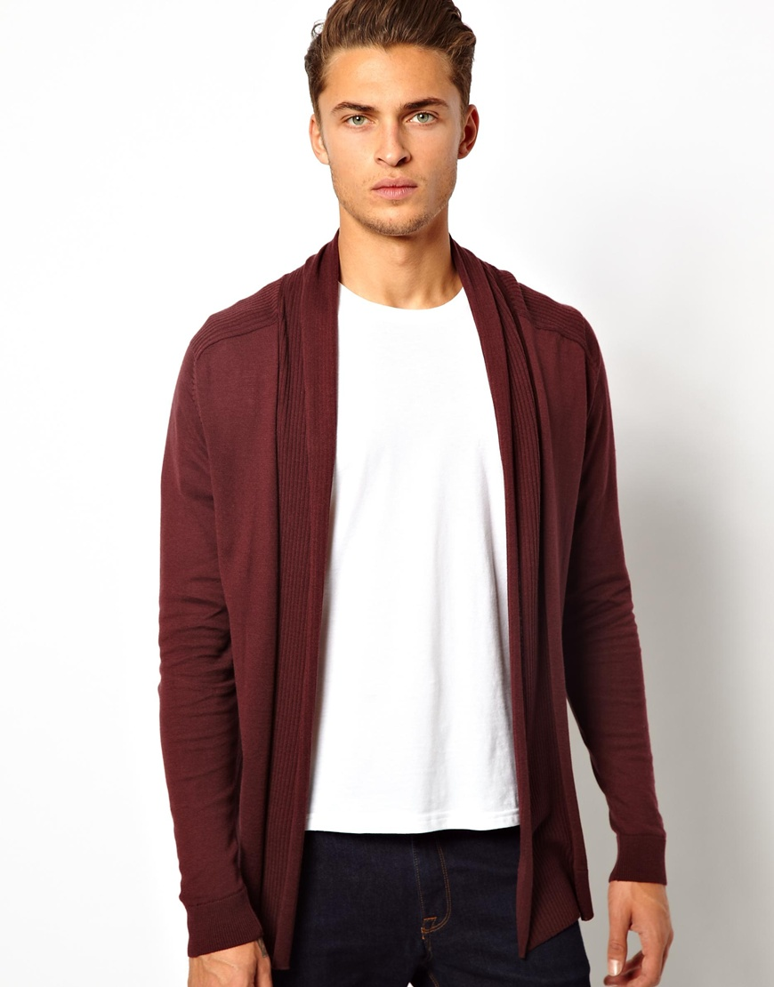 Asos Cardigan in Purple for Men | Lyst