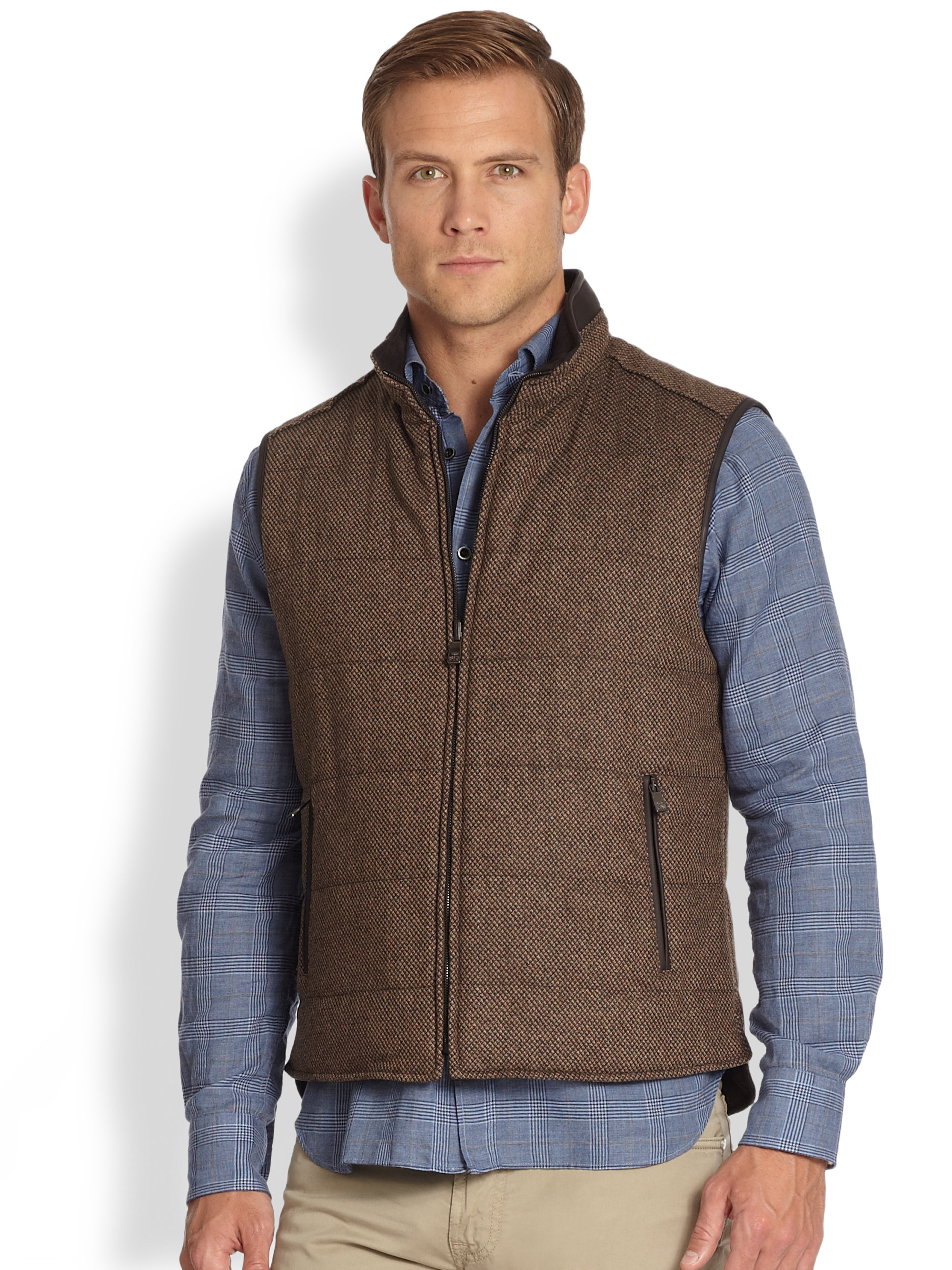 Tweed Vests Tweed is naturally durable, insulating and practical - the perfect fabric for a vest. With traditional British designs trending on the international fashion scene, tweed truly is enjoying its moment.