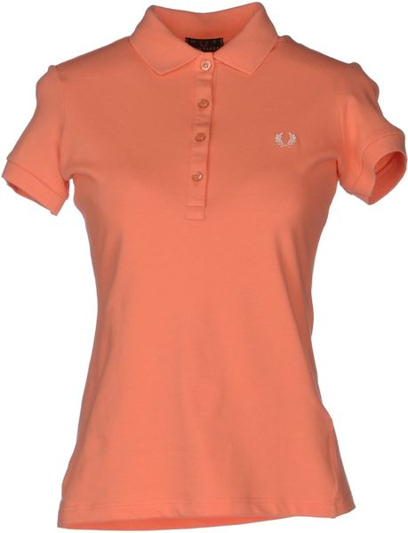 Fred Perry Polo Shirt In Pink Salmon Pink Lyst