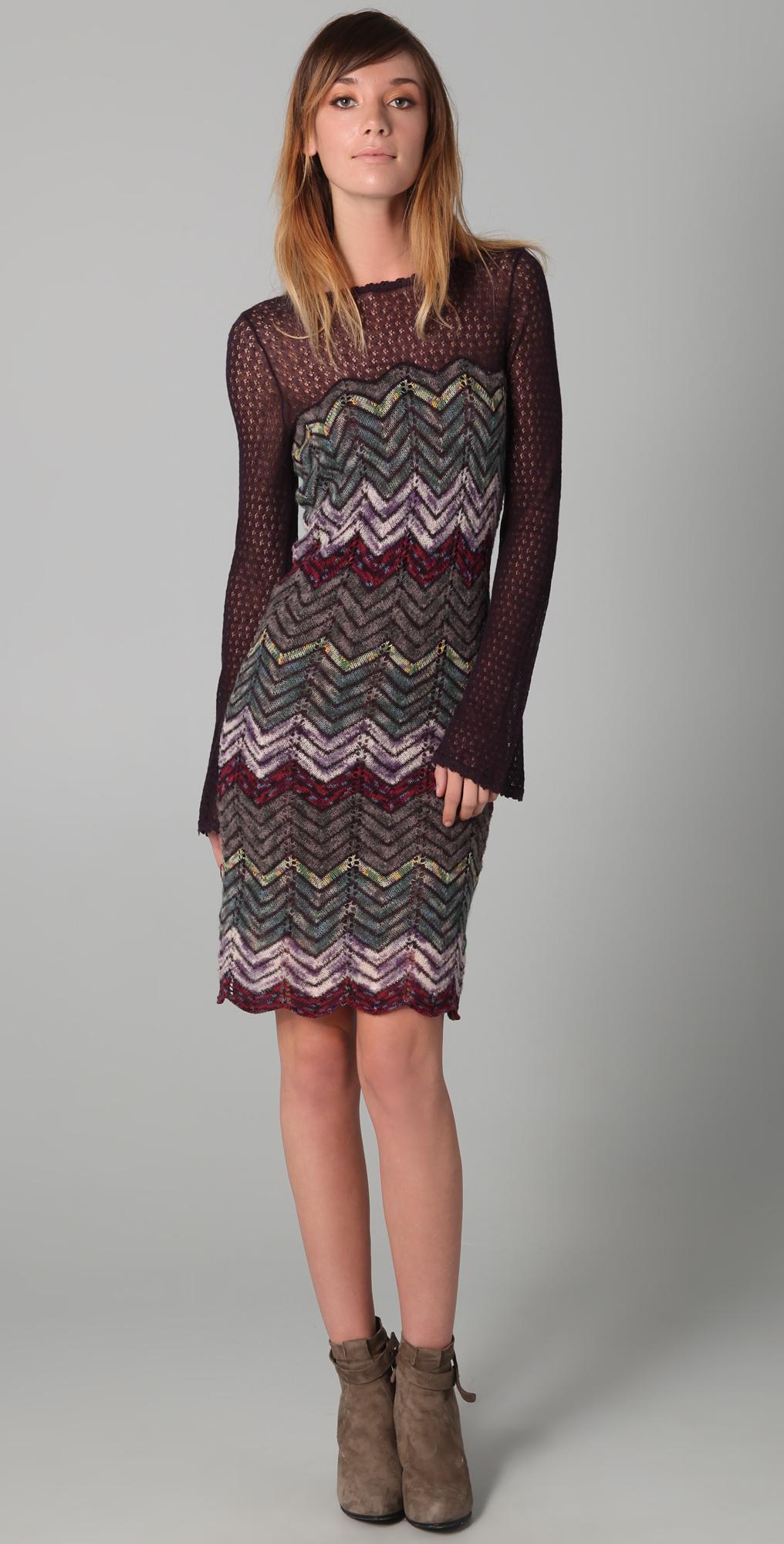 Free People Chevron Sweater Dress in Multicolor (Multi ...