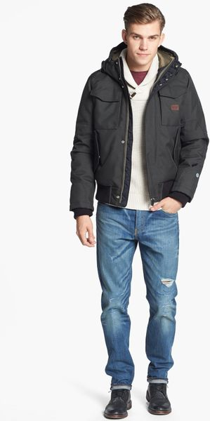 G Star Raw Mfd Hss Water Repellent Hooded Bomber Jacket In