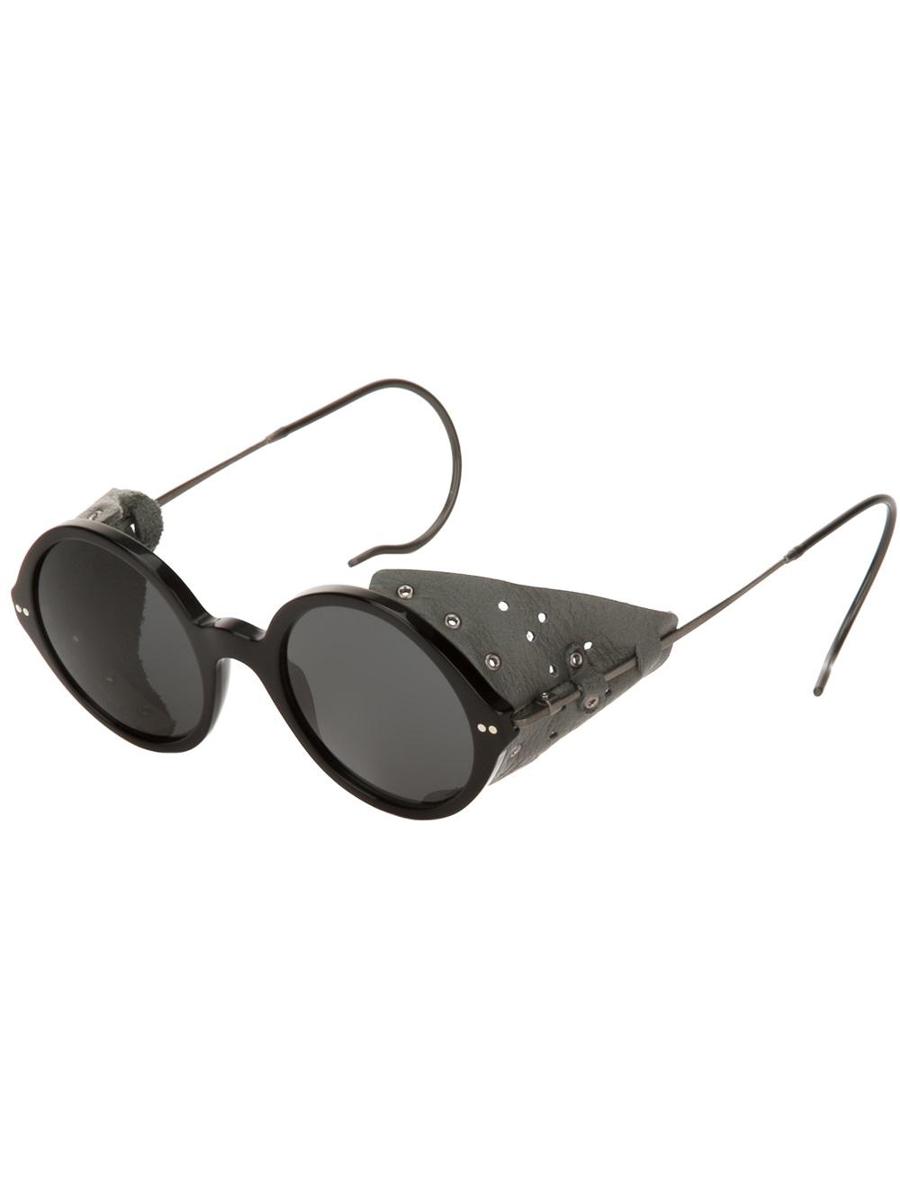 Giorgio Armani Glasses Black Frame : Giorgio Armani Round Frame Sunglasses in Black for Men Lyst