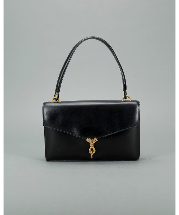 herm s vintage black box calf sac cordeaux shoulder bag in black lyst. Black Bedroom Furniture Sets. Home Design Ideas