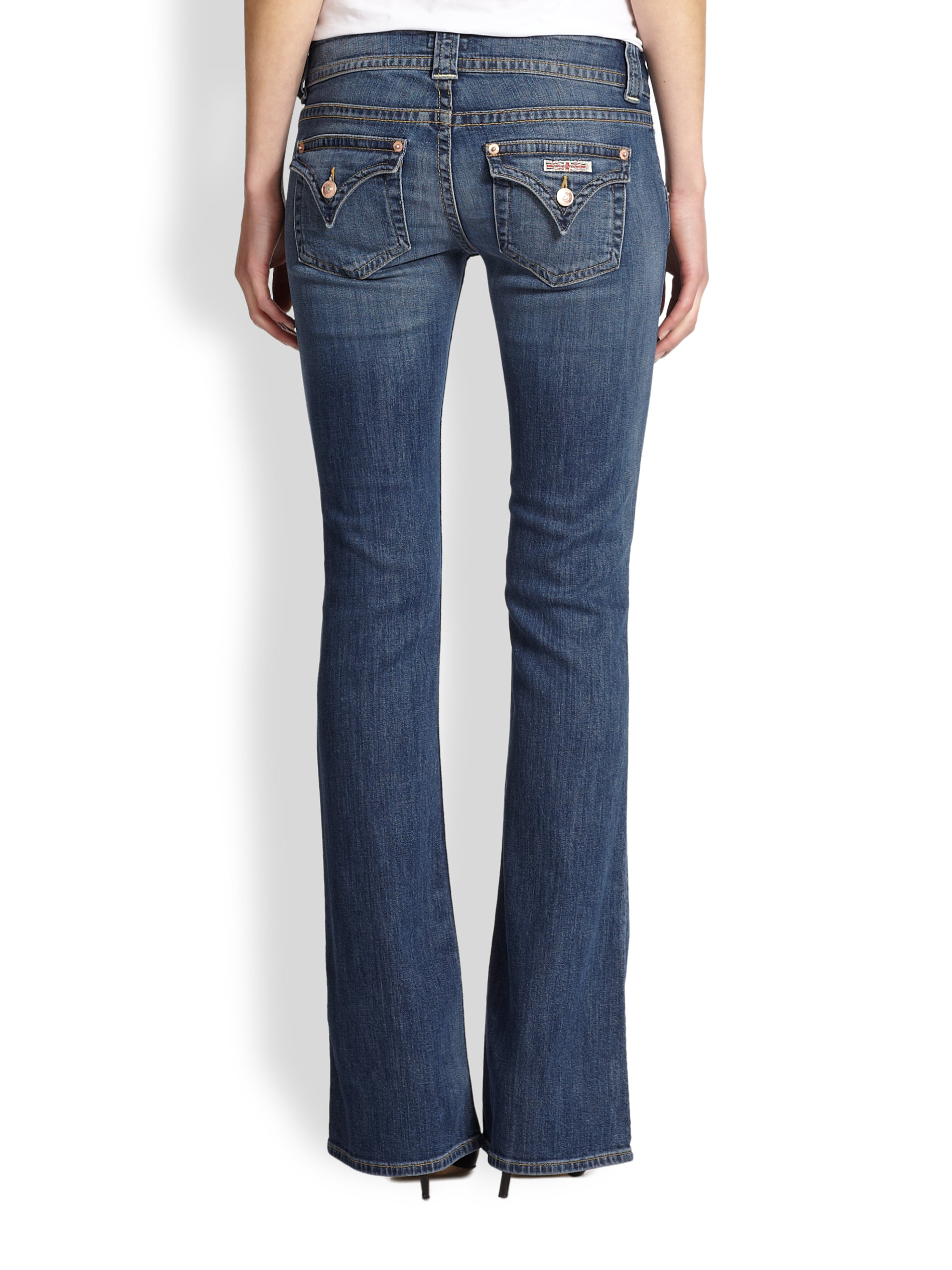 Hudson Jeans Blake Slim Fit Jeans (Bullet). Faded blue stretch-denim jeans are made in a slim fit to offer just the right amount of room in the thighs without compromising the modern profile.