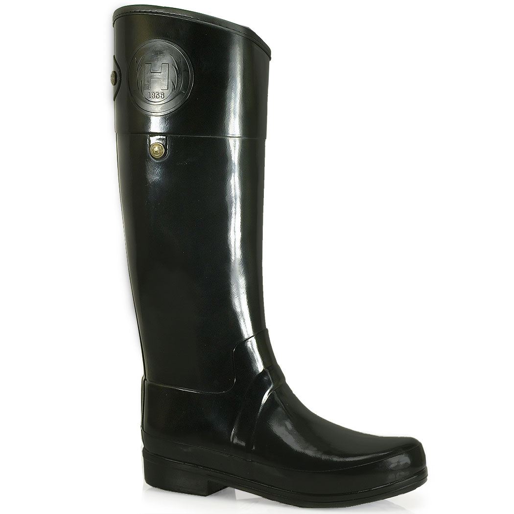 Hunter Sandhurst Carlyle Rubber Rain Boot in Black | Lyst