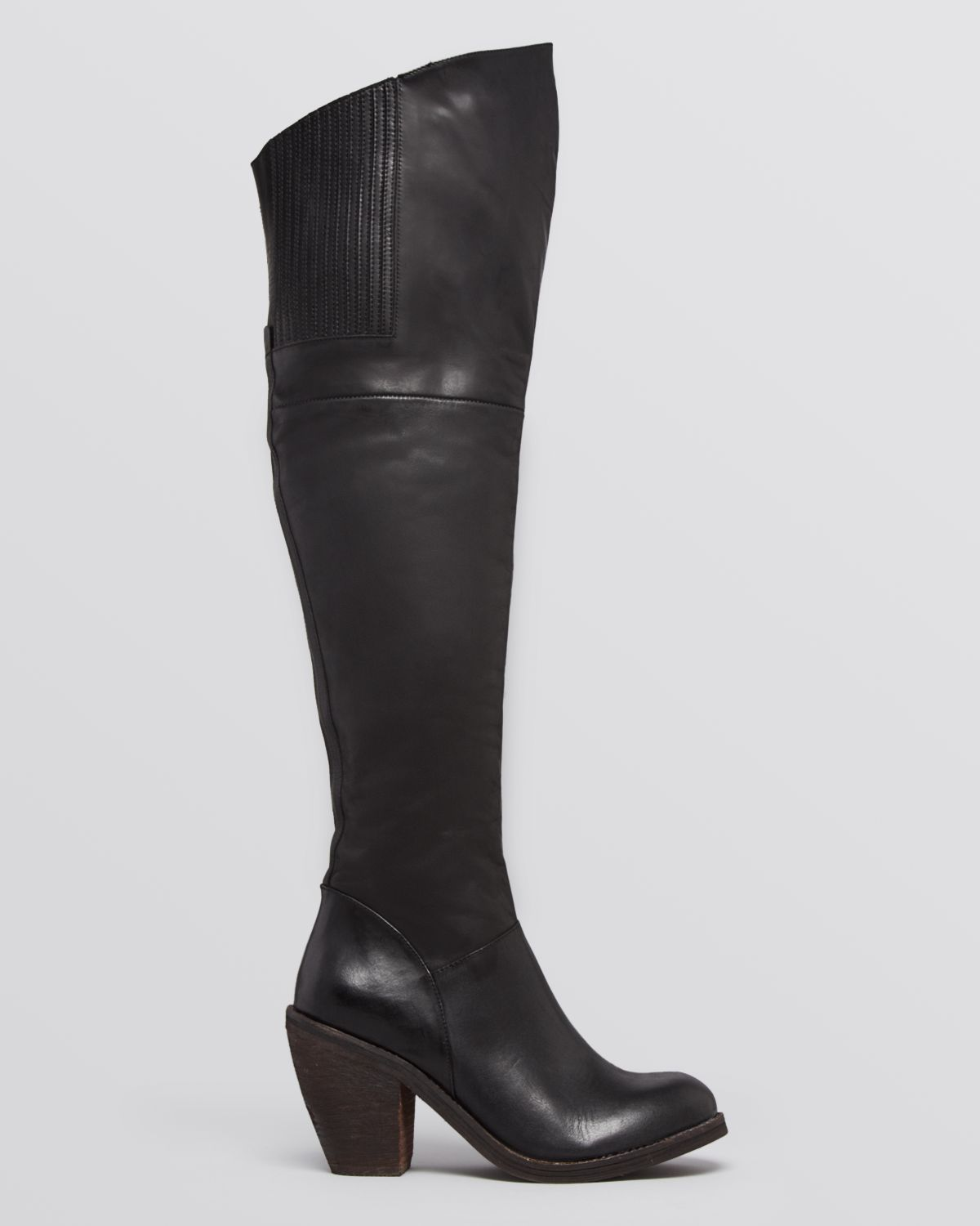 Jeffrey Campbell Over The Knee Boots Oklahoma High Heel In Black Lyst