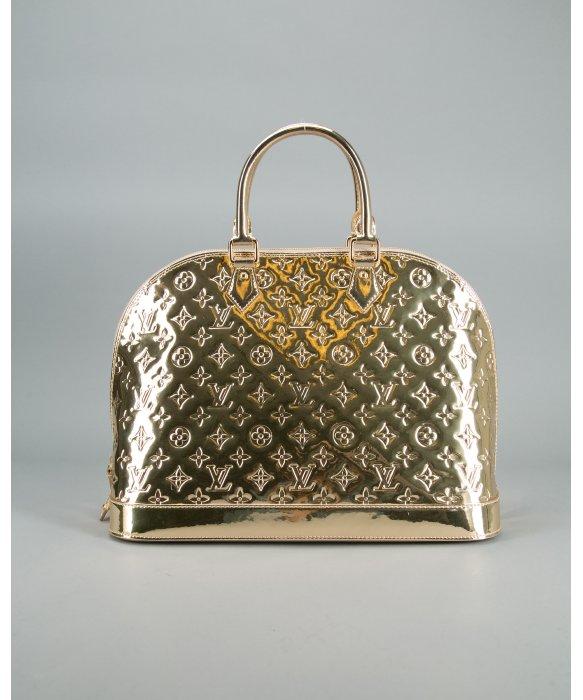 Lyst Louis Vuitton Pre Owned Gold Monogram Mirror Alma Gm Vintage Bag In Metallic