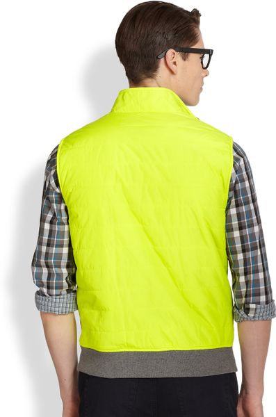 Michael Kors Reversible Vest In Yellow For Men Bright
