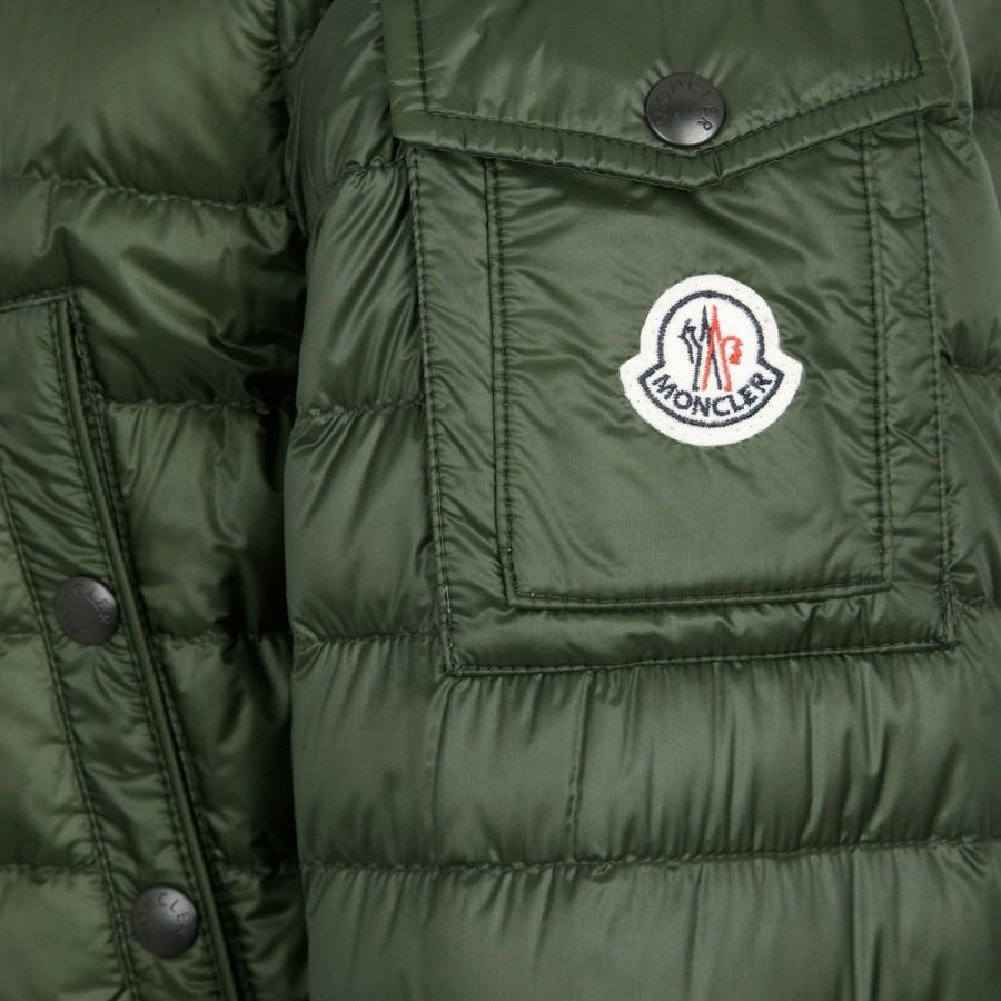 2af992592 Moncler Green Benjamin Hooded Quilted Shell Parka for men