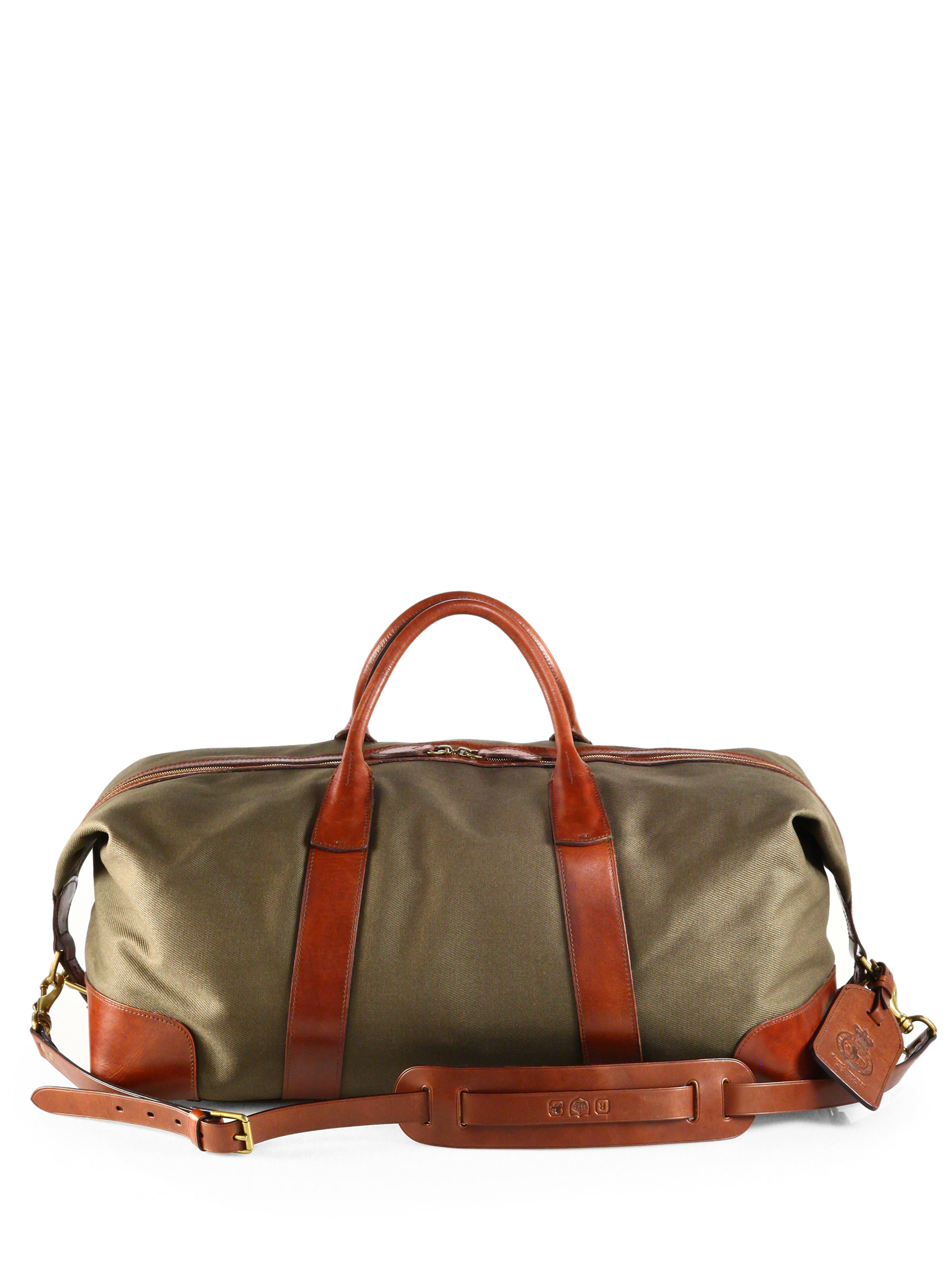 75d415176a Lyst - Polo Ralph Lauren Waxed Twill Duffle Bag in Green for Men