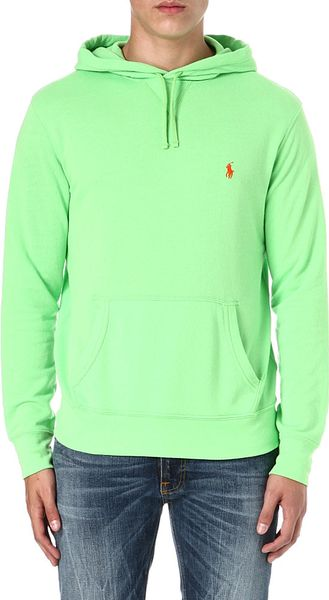 Ralph Lauren Embroidered Logo Cotton Hoody in Green for Men (Kiwi lime