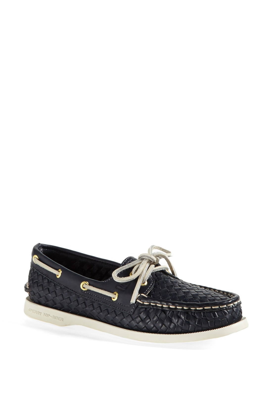 Sperry Montauk Woven Leather Boat Shoes