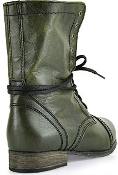 Steve Madden Troopa Combat Boot In Green Olive Lyst