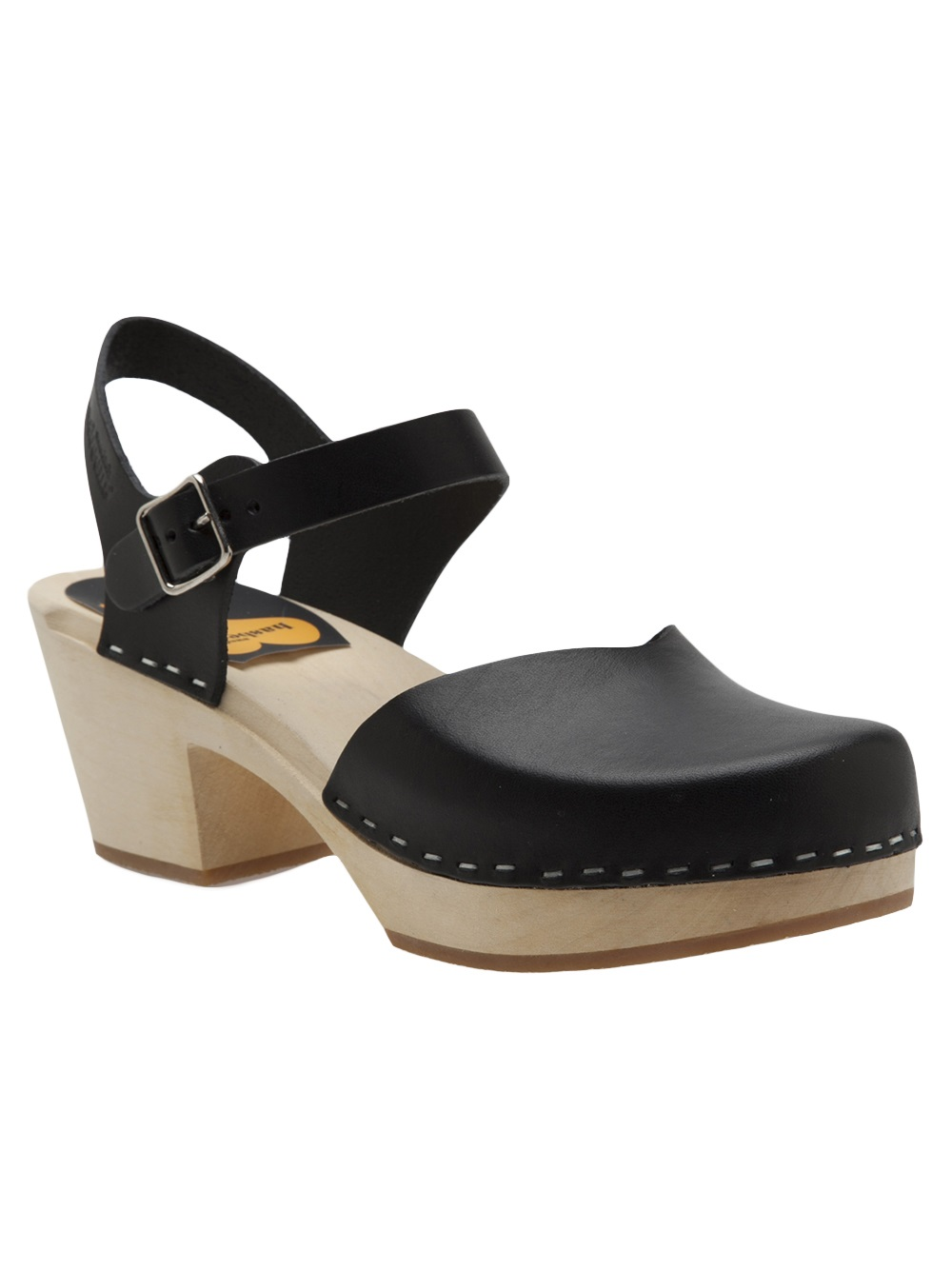 Lyst Swedish Hasbeens Covered High Shallow Sandal In Black