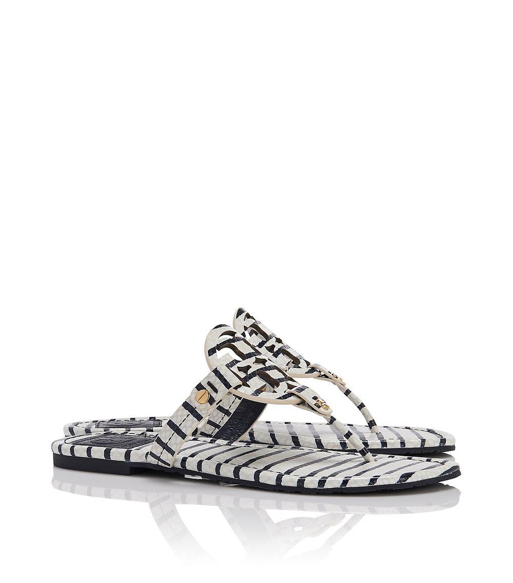 f3cb67421 Lyst - Tory Burch Miller 2 Stripe Sandal