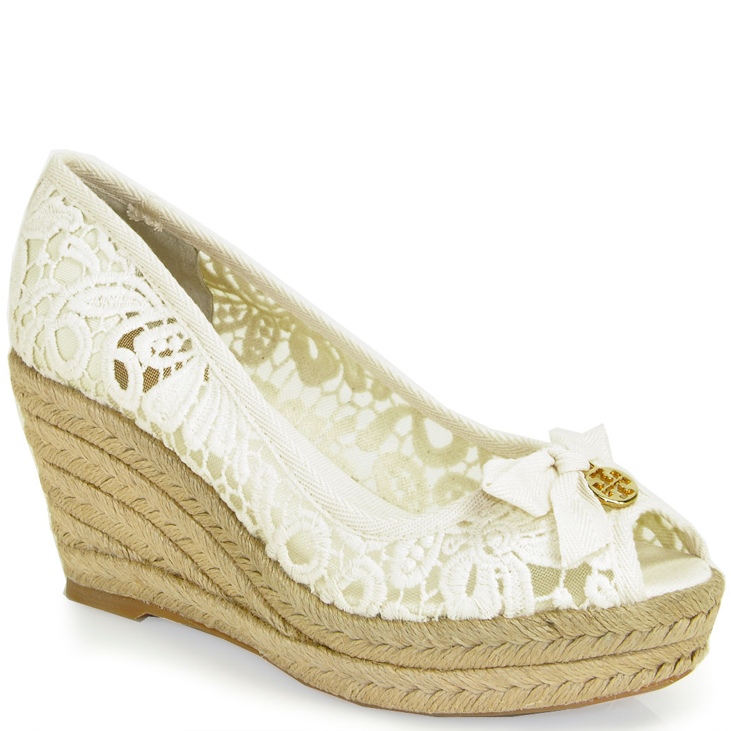 free shipping discount free shipping official Tory Burch Jackie Crochet Wedges prices cheap price i99j9