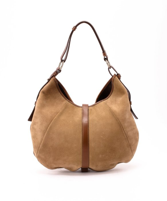 Saint laurent Preowned Beige Suede Mombasa Shangri La Handbag in ...