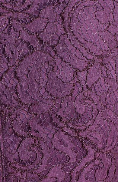 1b90dde4b78c5a ... Adrianna Papell Sleeveless Pleated Lace Sheath Dress in Purple (Dusty  Plum) - Lyst