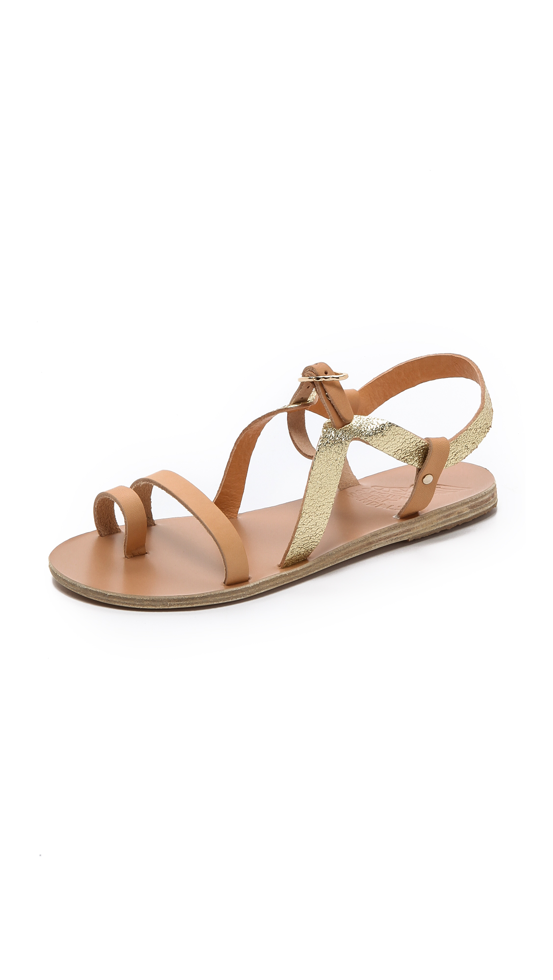Lyst Ancient Greek Sandals Phoebe Flat Sandals In Natural