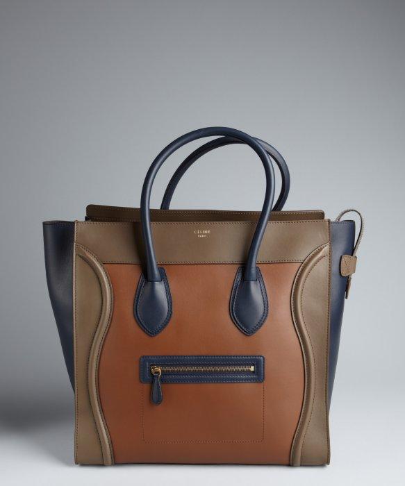 C¨¦line Camel Colorblock Calfskin Luggage Shopper in Beige (camel ...