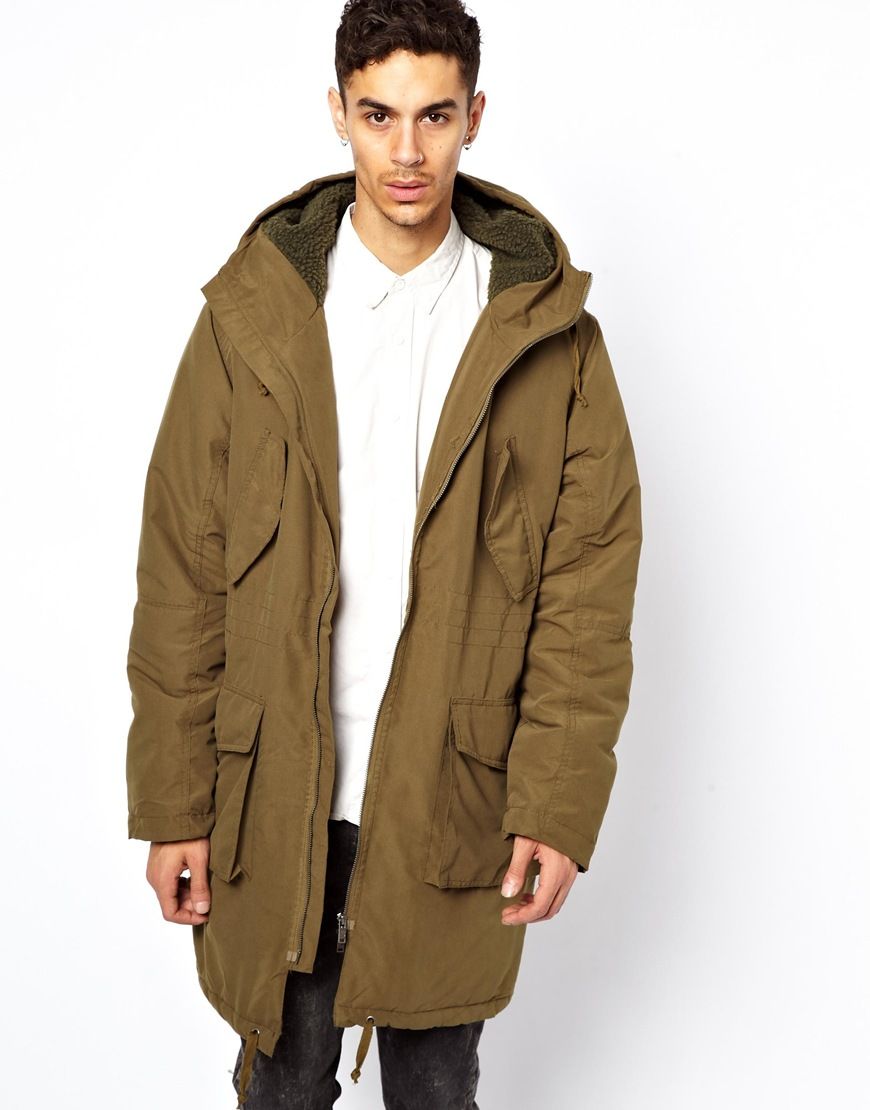 Cheap monday Bart Parka in Green for Men | Lyst