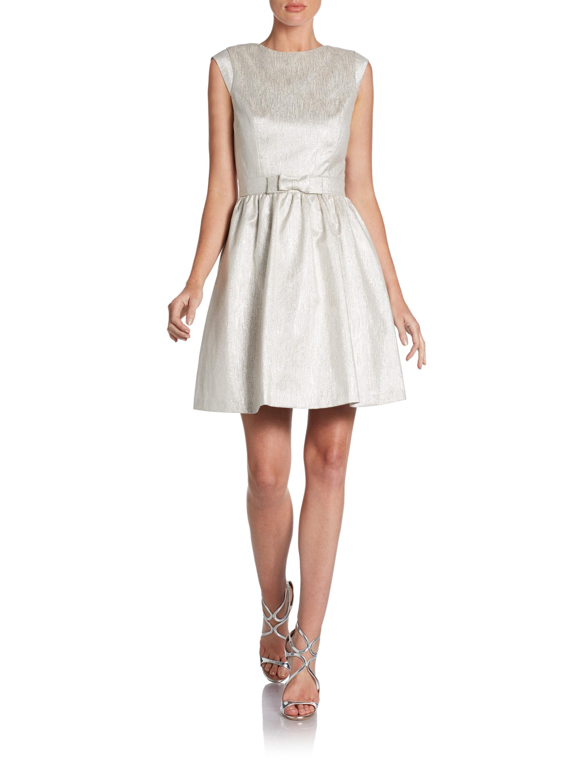 Cynthia Steffe Stella Bowdetail Fit Flare Cocktail Dress