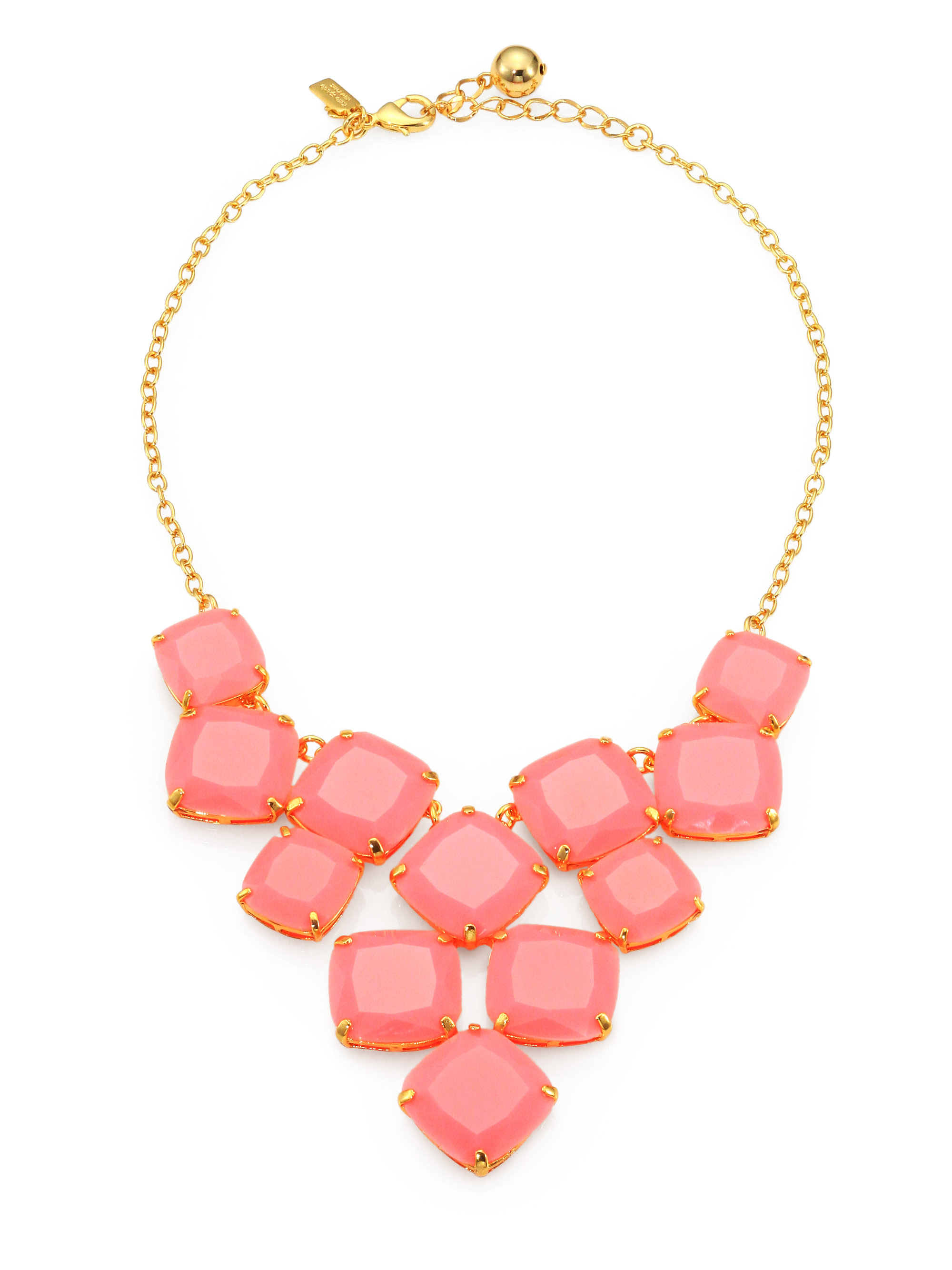 kate spade shaken stirred statement necklace in pink for